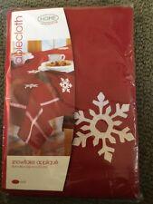 "Target home snowflake appliqué 60""x84"" Oval 100% Cotton Tablecloth."