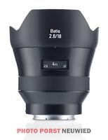 ZEISS Batis 2,8/18 Vollformat AF (E-Mount) - Sony Alpha 7 Objektiv