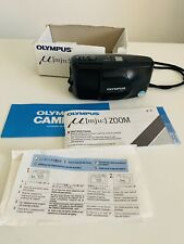 Olympus mju Zoom 35-70mm 35mm Point & Shoot Camera Manuals/Box Tested Working