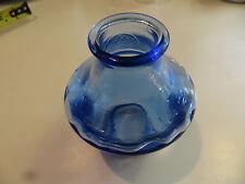Blue glass lamp shade vtg light fixture part