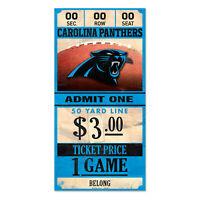 Carolina Panthers Old Game Ticket Holzschild 30 cm NFL Football Wood Sign