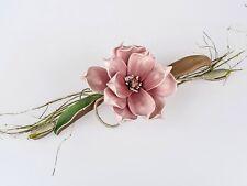 Tischdeko  Kunstblume Magnolienzweig  altrosa 14x38cm