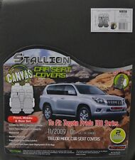 CHARCOAL FULL CAR PACK POLY CANVAS SEAT COVERS FOR TOYOTA PRADO 150 11/09-ON