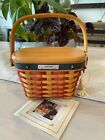 Longaberger 2001 Inaugural Basket Combo, Lid, Protector, Tie-On