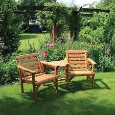 Outdoor Garden Furniture Anchor Fast Rustic FSC Pine Companion Seat Love Seat