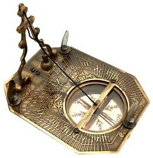 Nautical Antique Brass F. COX COMPASS Sundial Compass Maritime Antiques