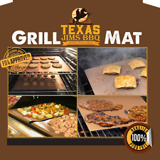 Texas Jim'sNonstick Bbq Grilling and Baking Mats Fda Approved 6 PackCopper