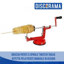SBUCCIA PATATE A SPIRALE TWISTER TAGLIA AFFETTA PELA PATATE MANUALE IN ACCIAIO