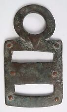 African tribal Bobo bronze stirrup adornment amulet pendant. Provenance