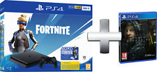 Sony Playstation 4 PS4 500GB F Slim HDR + Voucher Fortnite + DEATH STRANDING