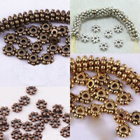 Hot 4mm Spacer Beads Bead Flower Daisy Shaped Findings 150 Pcs 3 Colors