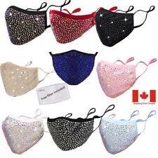 Face mask ajustable glitter rhinestone glamour crystal bling party fashion