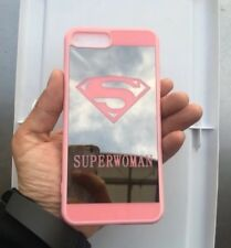 Cute Superwoman HD mirror case compatible with iPhone 6 / IPhone 6s - Pink