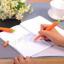 2Pcs Creative Carrot Shape Ballpoint Pen Kids Student Office Stationery Supplies