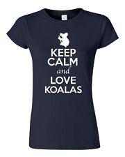 Junior Keep Calm And Love Koalas Bear Wildlife Animal Lover Humor T-Shirt Tee