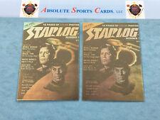 1993 Starlog STAR TREK Lot x 2 HOLOGRAM   Cover #1   SPOCK   Captain JAMES KIRK