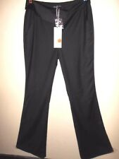 AMORETTE Le Smoking PANTS size 12 NEW&tags $129 black cotton sateen flared dress