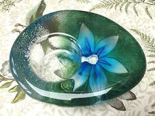 Mats Jonasson Signed & label Sweden Art Glass Crystal tealight Candle holder