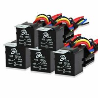 5x 5Pin Automotive Car Relay Switch Harness Waterproof 30A 12V DC 12 AWG Wires