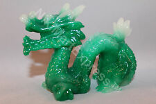 Chinese Green Jade Tone Lucky Feng Shui Protection DRAGON Figurine Statue