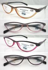 L323 Fashion Diamond Half Reading Glasses With Dotty Style Spring Hinge Designed