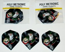 3 SETS OF DEATH WIZZARD POLY METRONIC DART FLIGHTS
