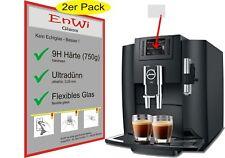 2x EnWi Glass 9H Jura E80 Piano Black 15083 Kaffeevollautomat Displayschutzfolie