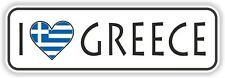 I Love Greece Sticker Greek Heart flag for Luggage Bumper Laptop Door Car Truck