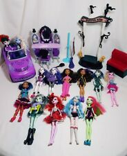 Monster High Doll Dolls Lot with Car Vanity Couch
