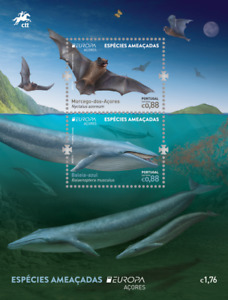 ACORES 2021 CEPT Endangered national wildlife SHEET  issue date 7-5-21