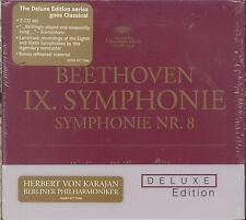 Beethoven IX Symphonies No 8 Deluxe edition CD NEW Herbert Von Karajan