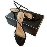 Black Evening Sandals Nina Gerri Size 9 1/2 M Shoes