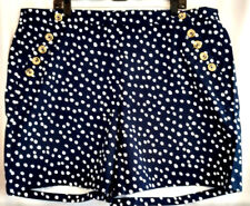 Lane Bryant Shorts Womens Size 22 Navy Blue Polka Dot Nautical