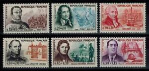 (b24) timbres de France n° 1295/1300 neufs** année 1961
