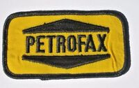 "PETROFAX EMBROIDERED SEW ON PATCH ADVERTISING UNIFORM BADGE 3 3/4"" x 2"""