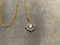 1.4 Carat Diamond Brilliant Cut Solitaire Pendant With Necklace 9k Gold Finish