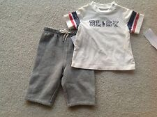 NWT RALPH LAUREN BOY 2PC SET T-SHIRTS& FLEECE PANT 3MONTH