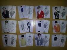 EXO K M plastic PHOTO CARD #12  ,12X2 all 24 Sheet - For Life exodium lotto