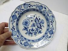 Beautiful Antique Marked Meissen Zwiebelmuster Deep Plate, Chipped, D 23.2 cm