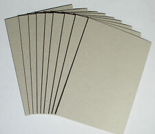 9 x A4 Greyboard Sheets 2mm / 2000 micron - model buildings, mountboard, crafts