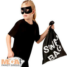 Swag Bag Fancy Dress Robbers Thief Convict World Book Day Childrens Costume Prop