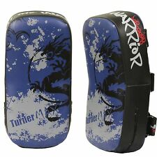 TurnerMAX Boxing Thai Punching Pad Fight Gear MMA Thai Pads Blue Black Pair