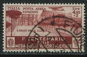 Italy 1934 Military Airmail Special Delivery 4.50 + 2 lire used