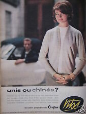 PUBLICITÉ 1960 SWEATERS CRYLOR VITOS UNIS OU CHINÉS - ADVERTISING