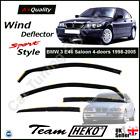 BMW 3 E46 Saloon 4-doors 1998-2005 4-pc Wind Deflectors HEKO Tinted