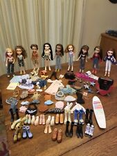 Bratz Doll Lot 9 Fully Dressed Dolls with Footwear + Clothes & Accessories