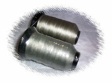2 spools BONDED POLYESTER UVR Heavy duty outdoor THREAD colors GRAY ANTIQUE GOLD