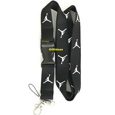 Jordan Lanyard Detachable Keychain iPod Camera Strap Badge ID JorBlack