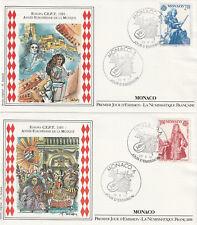 MONACO 1er jour 1985 : EUROPA C.E.P.T. Année de la Musique. N°1459 & 1460