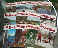 Rare Vtg 12issues 1963 FUR FISH GAME Magazine Harding's Publication  Cover Art